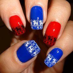 Reindeer Stitch Nail Water Decals   Nail Art Supplies   Sparkly Nails #christmas #xmas #nails #nailart
