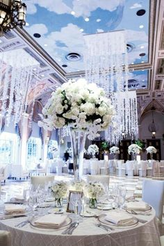 Dreamy white wedding decor.