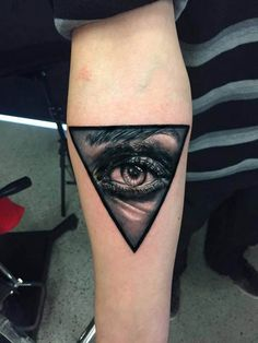 This exquisite eye was tattooed by Martin Tran. #inked #tattoo #eye #allseeingeye #realistic #ink