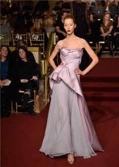 Lady in Lavender Zac Posen, New York #nyfw