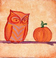 Original Miniature Watercolor Owl Painting by ElissaSueWatercolors, $22.00