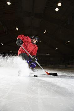 Action Sports Hockey Photo Player Spraying Ice