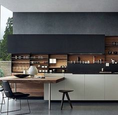 Want this kitchen!! Black white