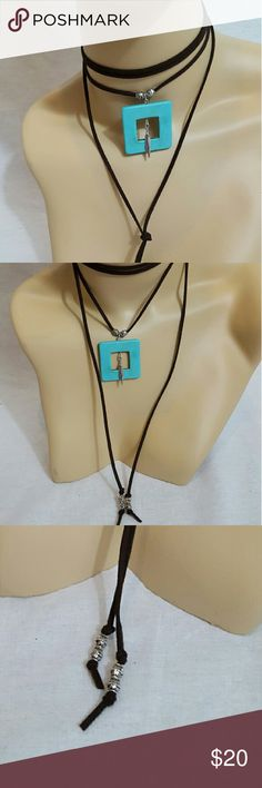 Black wrap bolo choker Black suede choker that features a turquoise pendant with feather accent. Brand new in package. Measures approx 70in long. Free People Jewelry Necklaces