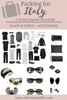 What to pack for travel to Italy; a travel capsule wardrobe in black and white What to pack for travel to Italy; a travel capsule wardrobe in black and white Capsule Wardrobe, Capsule Outfits, Travel Wardrobe, Kids Wardrobe, Wardrobe Ideas, Wardrobe Staples, Europe Travel Outfits, Travel Outfit Summer, Travelling Outfits