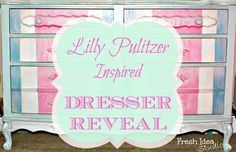 Lilly Pulitzer Inspired Dresser Reveal