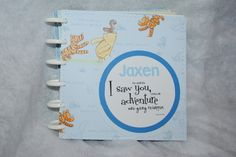Classic Winnie the Pooh Photo/Scrapbook Album for Boy by DreaminOfWarmPlaces on Etsy