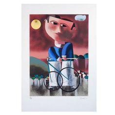 Inos Corradin - Gravura assinada -  Uma obra de arte na sua casa por um preço acessível! Baseball Cards, Etchings, Moldings, Home, Artworks, Artists