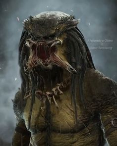 Primal Hunter by Alejandro Olmo Alien Vs Predator, Predator Movie, Predator Alien, Fantasy Monster, Monster Art, Wallpaper Marvel, Les Aliens, Steampunk, Alien Concept Art