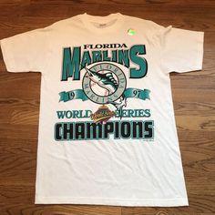b13a68ffd9f Vintage Florida Marlins 1997 World Series Champions MLB Baseball Shirt Large