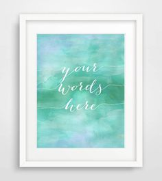 Esse quam Videri ? PRINTABLE custom quote print mint watercolour art by Designsbyritz