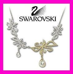 $190 Swarovski Crystal Permanent Swanflowers necklace # 1111678 New