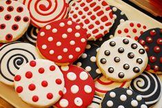 Red & Black cookies. Perfect tailgate idea for #UGA, #Bama & #Arkansas fans.