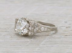 2.70 Carat Antique Edwardian Engagement Ring