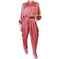 67ead7cc8 1980s Krizia Snake Embroidered Silk Set Embroidered Blouse, Italian  Fashion, 1980s, Lounge Wear