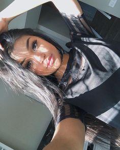 Last selfie w black hair