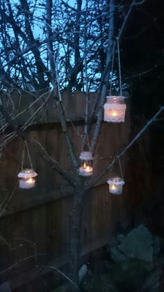 Wedding ideas Shabby Chic Glass Jar Tea Light Lantern