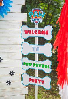 Paw Patrol Birthday Decorations, Paw Patrol Birthday Theme, 3rd Birthday Parties, 4th Birthday, Sky Paw Patrol, Puppy Birthday, Ideas Para, Fiesta Ideas, Paw Patrol Decorations
