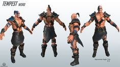 """Meet Magnus Hinriksson, codename: Tempest. He is an original character I concepted & created for a 3D modelling course. The aim of this project was to create a character that fit within the Overwatch universe that fit the specifications of a damage dealer that hails from Iceland. This costume variant is intended to be a """"fun"""" skin, and is heavily inspired by the Diablo II barbarian."""