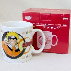 RARE! Naruto Shippuden MUG Naruto Uzumaki Banpresto JAPAN ANIME MANGA JUMP