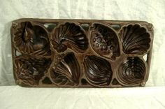 Vintage John Wright Shell Mold Cast Iron Chocolate Muffin Baking Pan 1989 Cookie