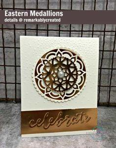 Create an elegant copper Eastern Medallions Celebration card