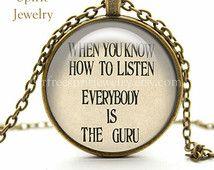 Ram Dass Quote, Necklace Glass Pendant, Inspirational, Guru, Here and Now, Taoism, Zen, Spiritual Quote, Ram Dass, Gift for Women