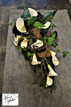 Funeral flowers Funeral Flower Arrangements, Funeral Flowers, Grave Decorations, Sympathy Flowers, Fall Flowers, Floral, Succulents, Wreaths, Plants
