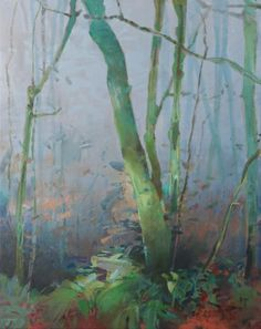 December Forest 3, painting by artist Randall David Tipton