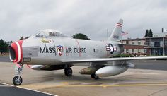 F-86H Saber of the 104th FW / 131st FS, Massachusetts Air National Guard.