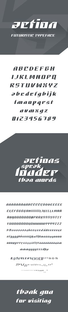 Action Futuristic #Font - #Futuristic #Decorative Download here: https://graphicriver.net/item/action-futuristic-font/19221853?ref=alena994
