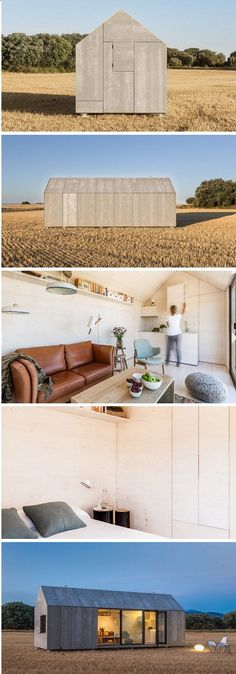 A prefabricated and portable tiny house named the ÁPH80., built by Spanish architecture firm, ÁBATON.