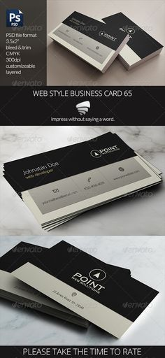Black business card business cards the design inspiration web style business card 65 photoshop psd developer development available here reheart Gallery