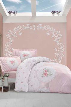 sábanas y fundas estampado degradé rosa | bedrooms - Copripiumino Bianco E Rosa