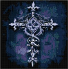 Gothic Cross of Hope Original Cross Stitch Pattern on Etsy, 4,45 €