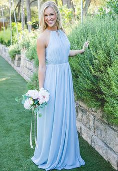 Eliza Bridesmaid Dress in Something Blue Chiffon