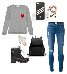 """Untitled #9"" by janina-forejtova on Polyvore featuring Chinti and Parker, Frame, Steve Madden, adidas, Happy Plugs and Olivia Burton"