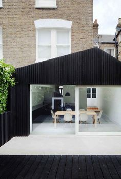 black contemporary extension // Protected Species - www.protected-species.com