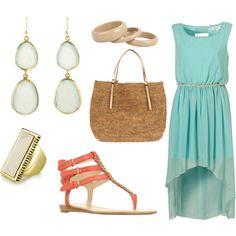 Aqua Hi Lo Dress