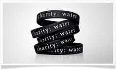charity: water bands. Wear these wristbands and help spread the word about the water crisis and charity: water. 100% of the price funds water project costs.