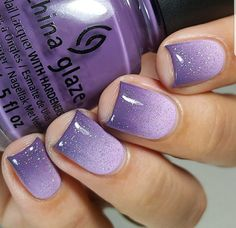 35 charming and beautiful purple nail designs charming purple nail designs How to use nail polish? Nail polish in your friend's nails looks perfect, but yo Purple Ombre Nails, Purple Nail Art, Purple Nail Designs, Purple Manicure, Violet Nails, Purple Nail Polish, Fingernail Designs, Gel Nail Designs, Nails Design