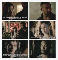 Hayley, Hope, Klaus, Marcel S4 Ep7