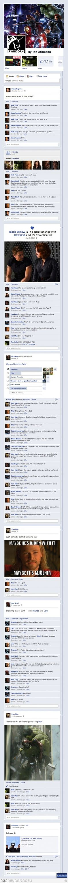 The @Avengers Assemble on Facebook