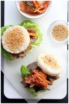Foodagraphy. By Chelle.: Bulgogi Rice Burger (불고기 라이스 버거) -- Like KoJa Kitchen's food truck from the Bay Area!