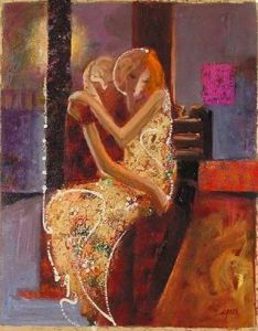 Sabzi Midnight - Giclee on Canvas -12.5 x 10