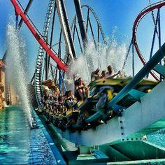 shambala port aventura, tallest rollercoaster in europe! Best Roller Coasters, Roller Coaster Ride, Ferrari Land, Riders On The Storm, Amusement Park Rides, Barcelona Spain, Spain Travel, Vacation Destinations, Regrets