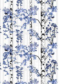 Luontopolku, blue, design by Riina Kuikka