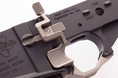 High Velocity Arms ASRS, Advanced Safety Receiver System (Prototype) this looks like a magpul bad lever on steroids. interested in functionality. Weapons Guns, Guns And Ammo, Ar Parts, Ar15 Pistol, Rifle Accessories, Ar 15 Builds, Shooting Guns, Shooting Sports, Battle Rifle