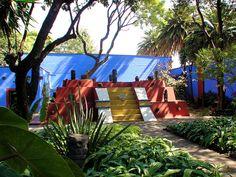 Pyramid At The Frida Kahlo Museum, or La Casa Azul, Frida Kahlo's former home with Diego Rivera