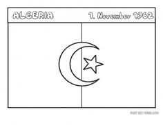Free Printable Flag Of Algeria Coloring Page For KidsNational Day 1 November 1962 Educational